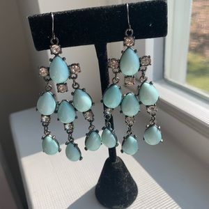 Jewelry - 🍒 Turquoise and silver chandelier earrings 🍒